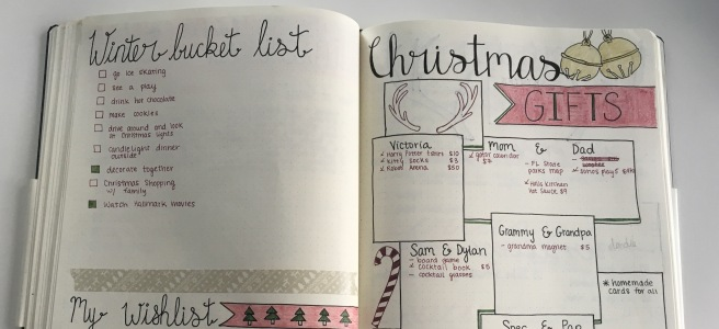 {Blogmas} Planning Christmas with a Bullet Journal